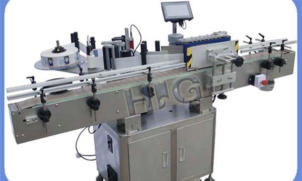 יצרן מכונת תיוג בקבוקים עגולים NPACK אוטומטית עם מדפסת