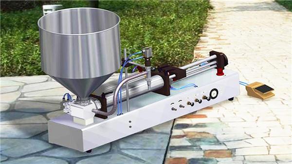 מכונת מילוי נוזלית למחצה אוטומטית למחצה
