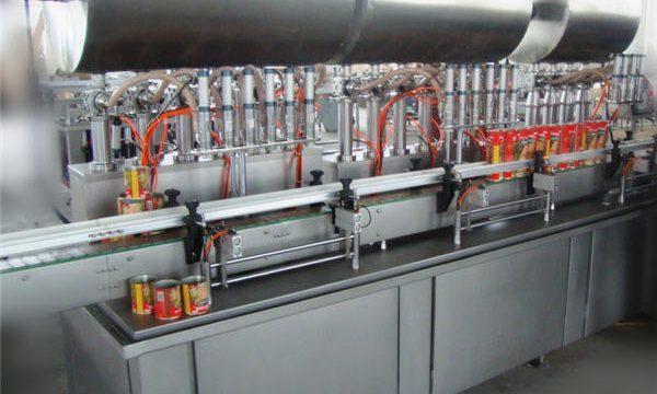 מכונת מילוי הדבקת צ'ילי אוטומטית בעלת ראש כפול