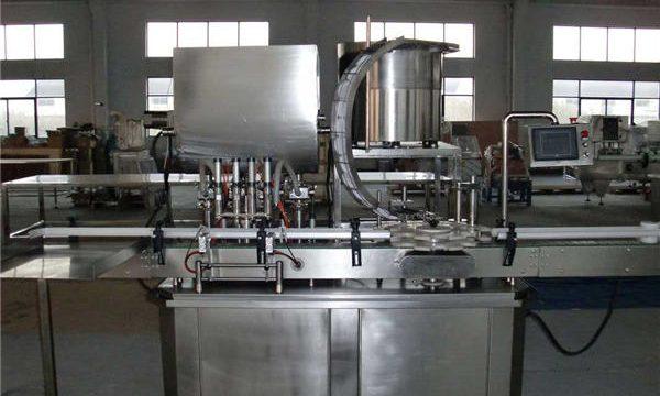 מכונת מילוי בוכנה אוטומטית בקו ישר