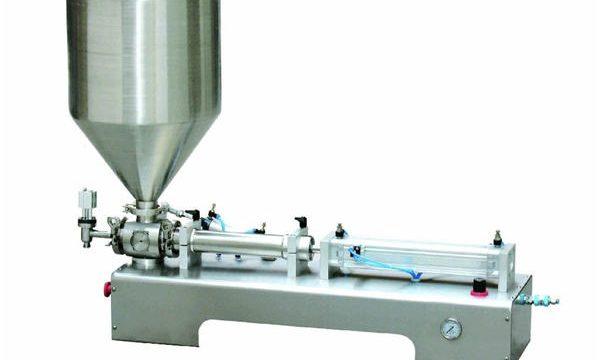 מכונת מילוי בוכנה לבקבוק נוזלי למחצה אוטומטית למחצה